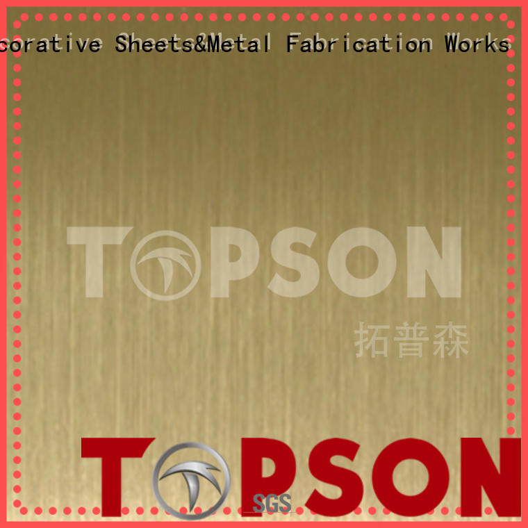 Topson sheetmirror stainless steel material effectively for kitchen