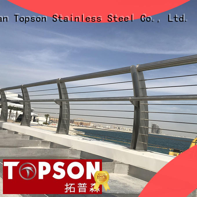 Topson stair stainless steel handrail cost constant for hotel