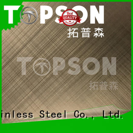 Topson luxurious bead blast finish stainless steel for floor
