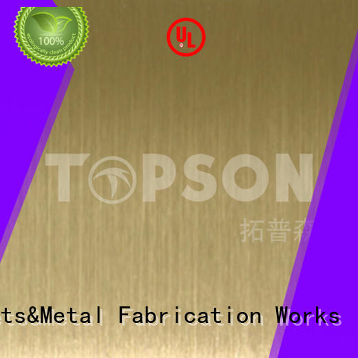 Topson steel brushed stainless steel finish solutions for furniture