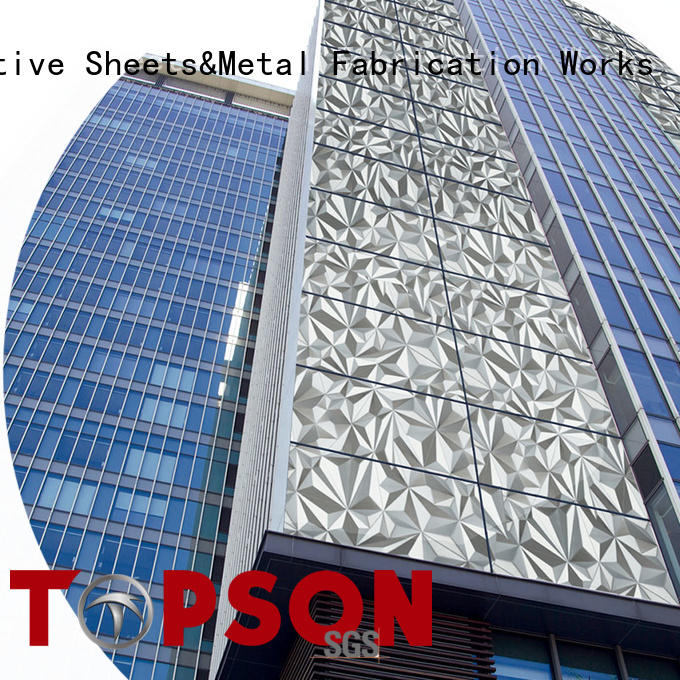 Topson external stainless steel wall cladding systems Supply for shopping mall
