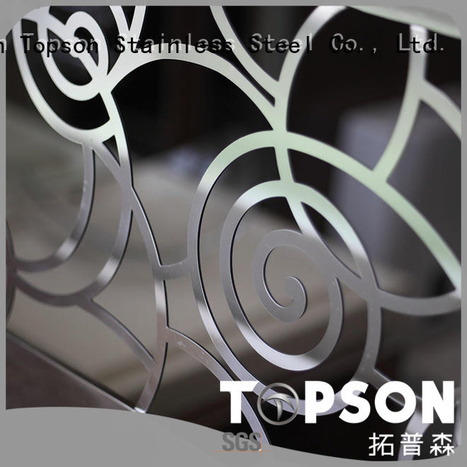 Topson stainless steel stair railing cost for business for office
