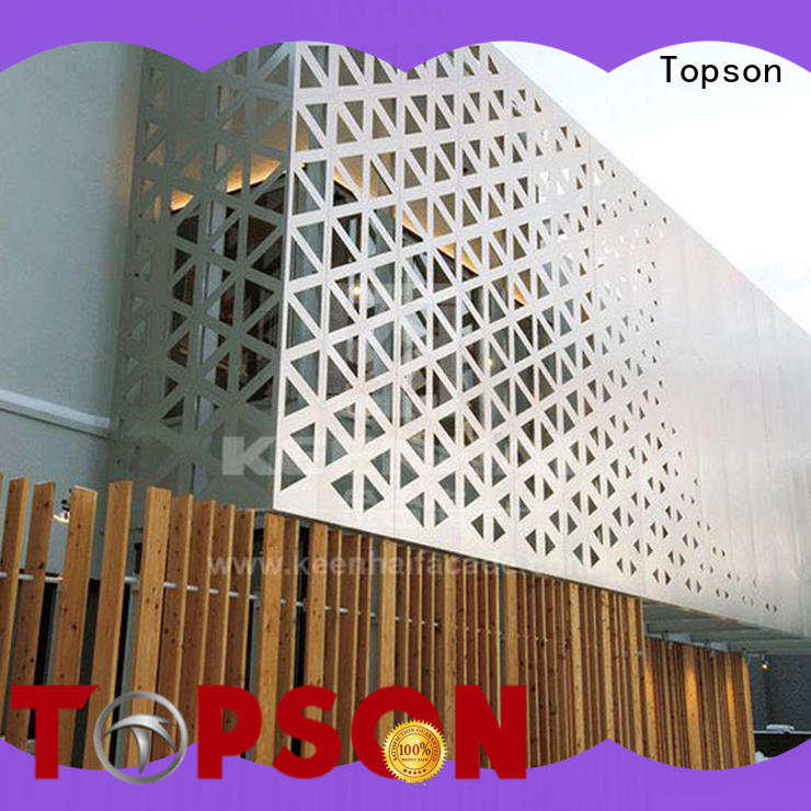 Topson screen metal works overseas market for landscape architecture