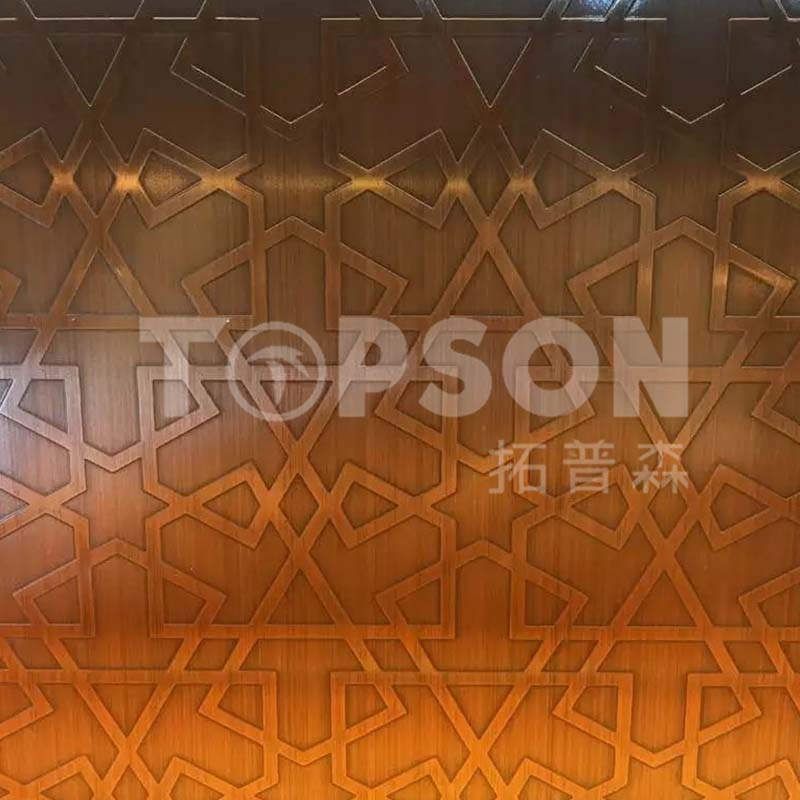 Topson etching decor stainless steel company for kitchen-2