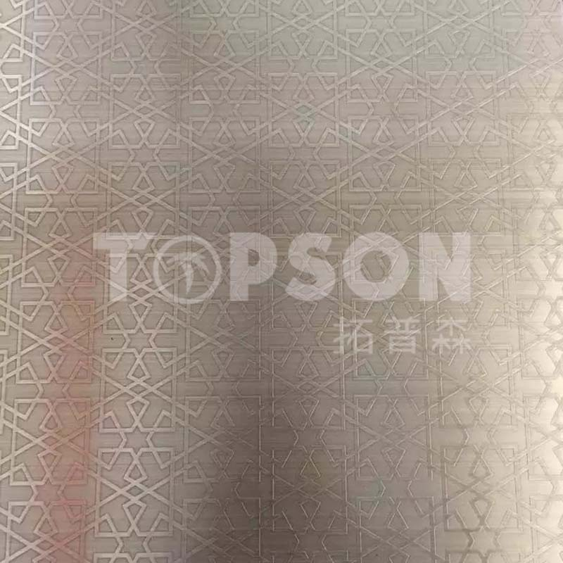 Topson etching decor stainless steel company for kitchen-7
