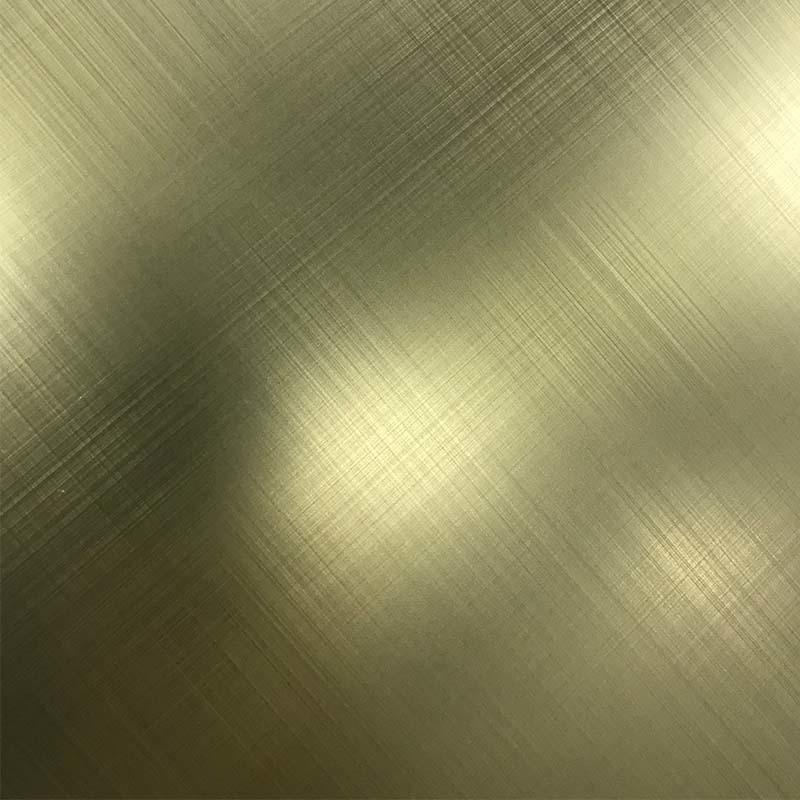 CROSS HAIRLINE Stainless Steel Sheet