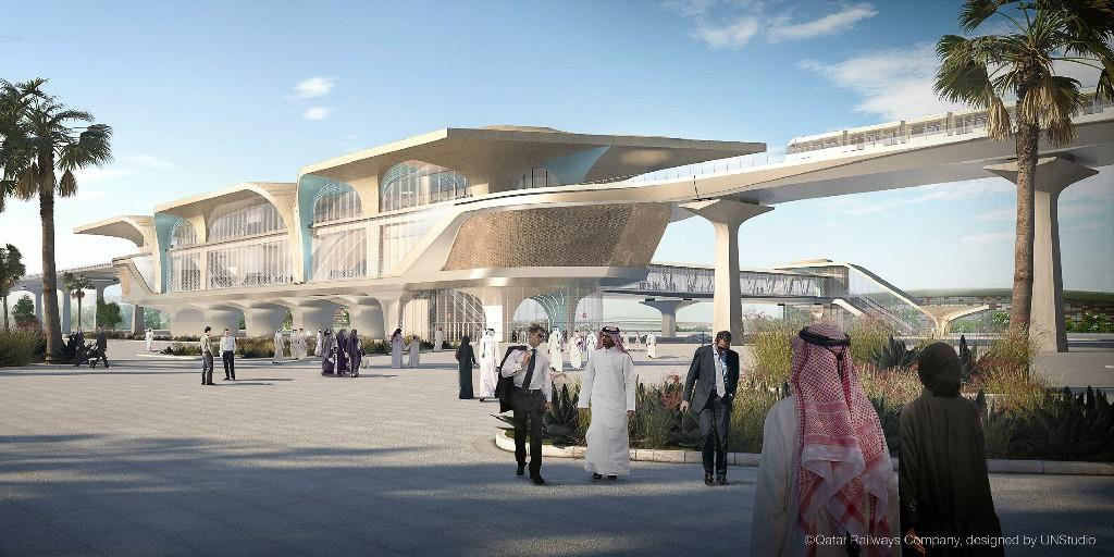 architectural metal fabrication of Qatar University and Lusail Station