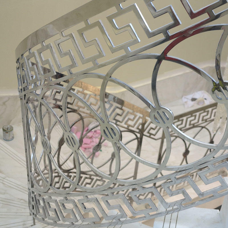 Curved Stair stainless Handrail&stainless railings