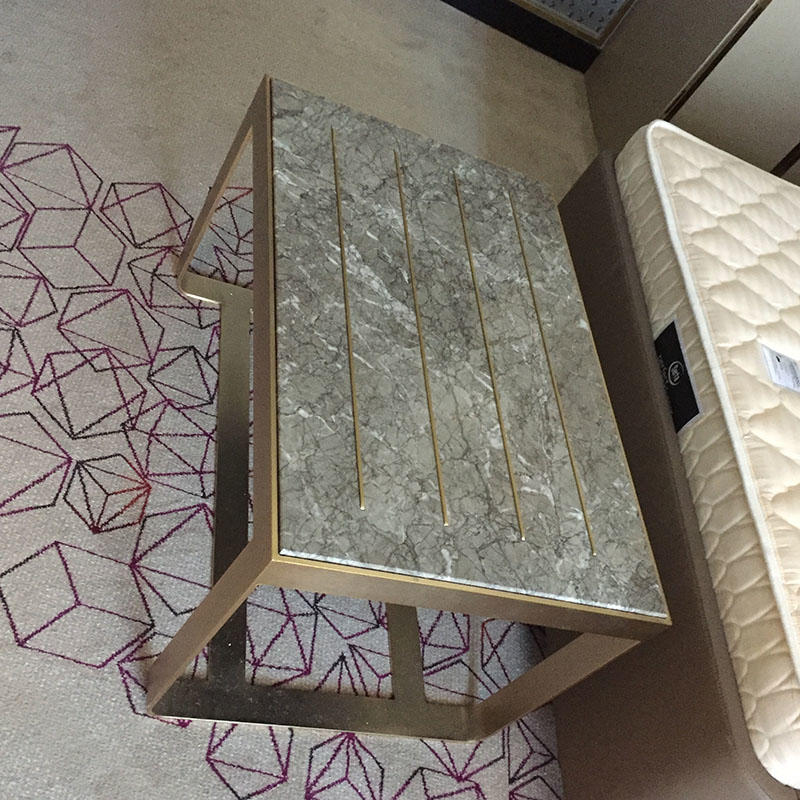 Metal Furniture with marble&stainless steel cabinet