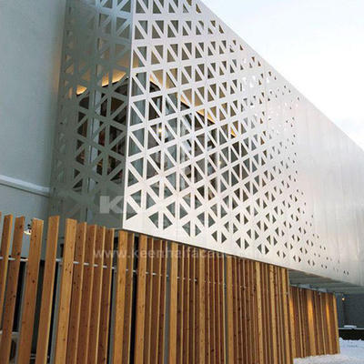 special design perforated metal screens suppliers improvement for exterior decoration Topson