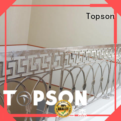 Topson Wholesale stainless steel stair railing cost factory for mall