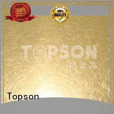 Topson gorgeous brushed stainless sheet Supply for handrail