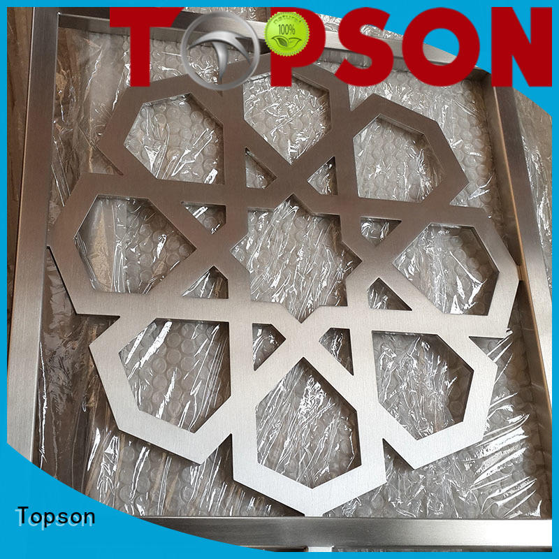 Topson great practicality decorative metal screen shop now for building faced