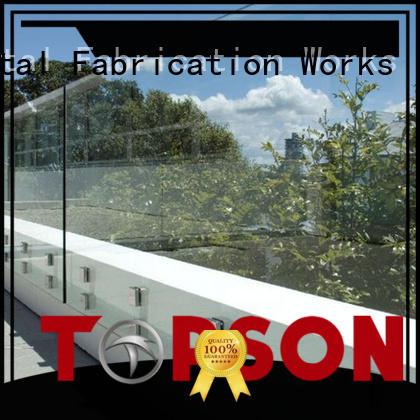 Topson worksglass glass railing indoor factory for restaurant