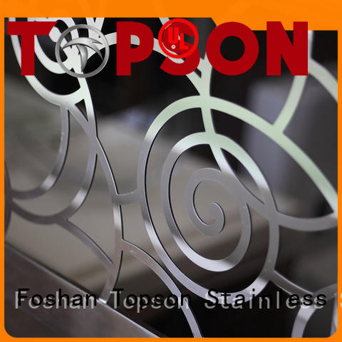 Topson popular stainless steel railing price in-green for office