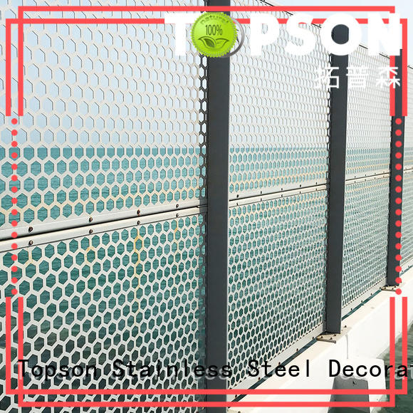 Topson metal metal screen from manufacturer for landscape architecture