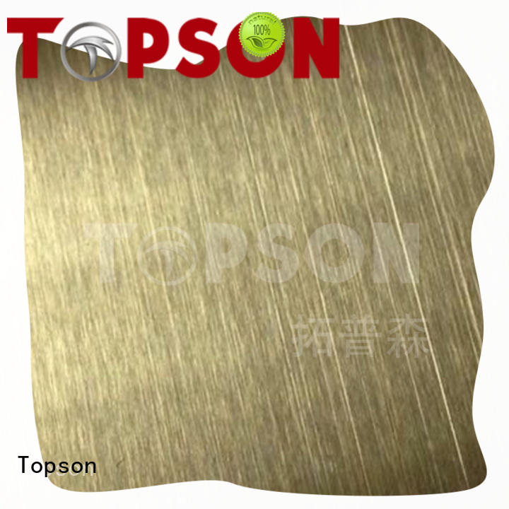 Topson stable stainless steel panels calibration for interior wall decoration
