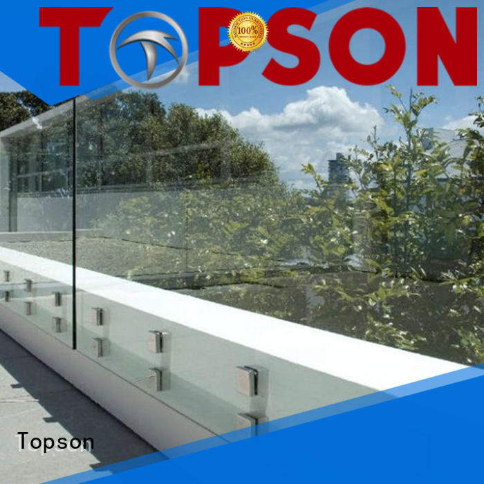 Topson worksglass exterior glass guardrail for manufacturer for restaurant