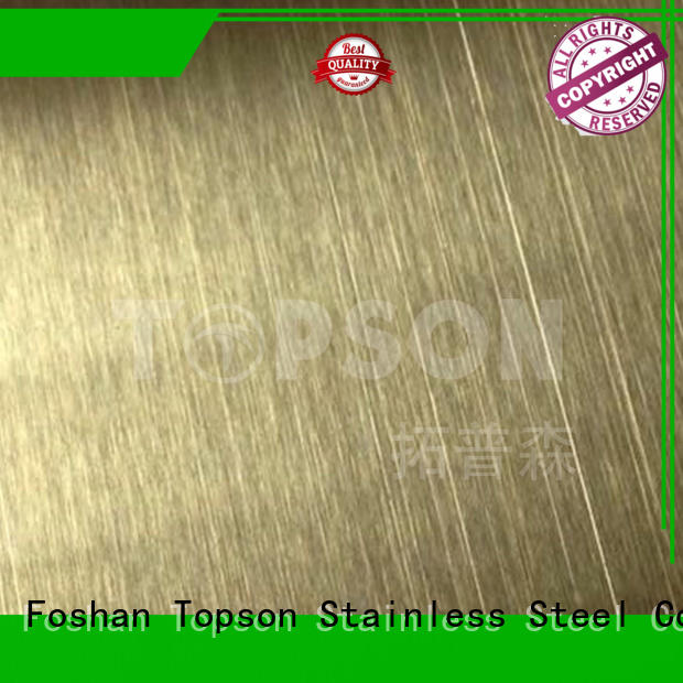 Topson durable stainless steel sheets for sale calibration for elevator for escalator decoration