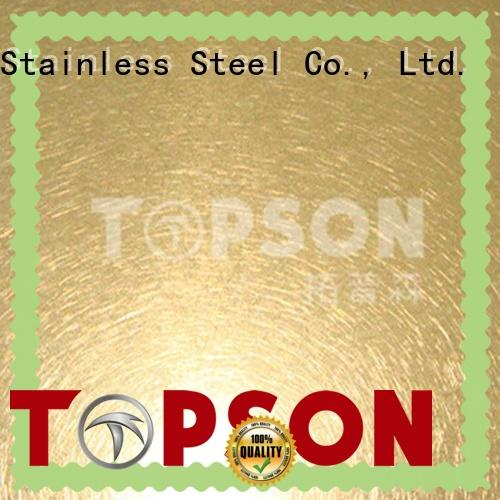 Topson metal stainless steel sheet prices effectively for interior wall decoration