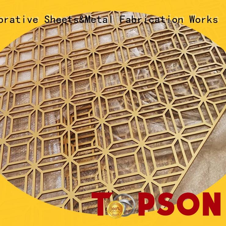 Topson steel perforated metal screens suppliers Suppliers for landscape architecture