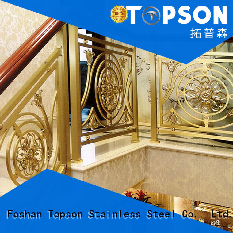 Topson elegant stainless steel deck railing constant for apartment