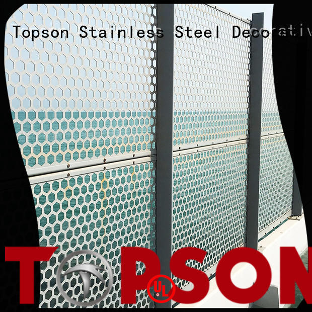 metal screen meshperforated for landscape architecture Topson
