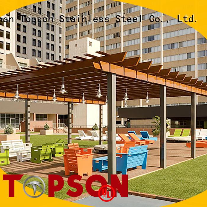 Topson coated aluminium pergola containerization for resort