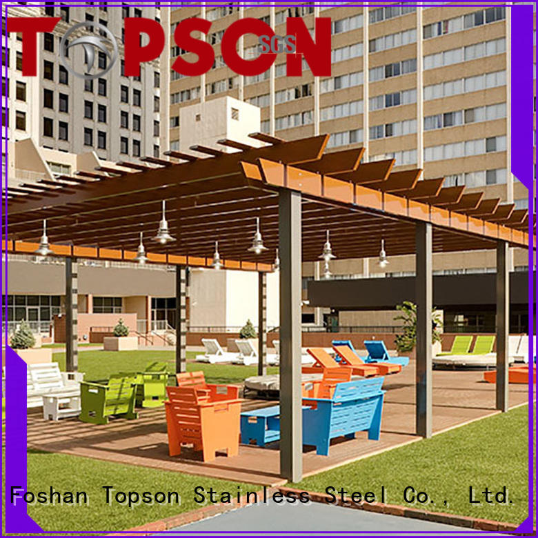 Topson stain resistance aluminum pergola for hotel