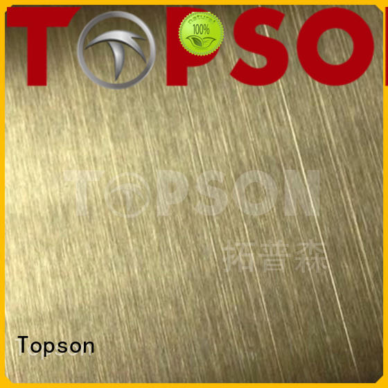 Topson colorful stainless steel sheet stockists Suppliers for floor