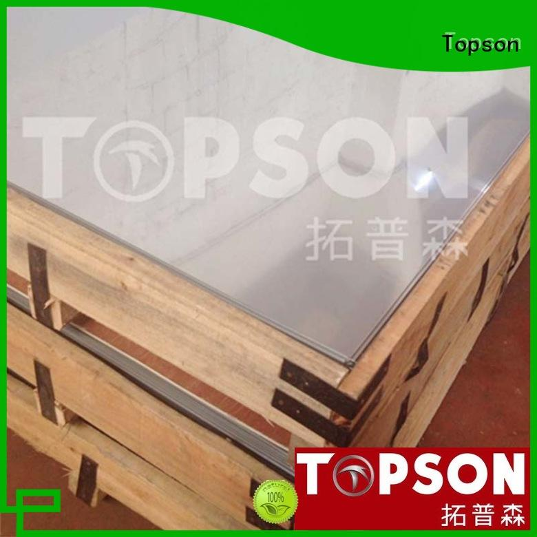 Topson sheetmirror brushed stainless sheet company for floor
