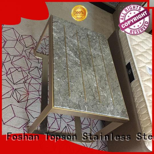 elegant custom metal furniture glass for hotel lobby decoration
