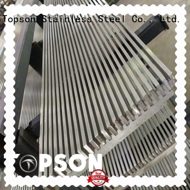 Topson widely used metal plank grating Suppliers for hotel
