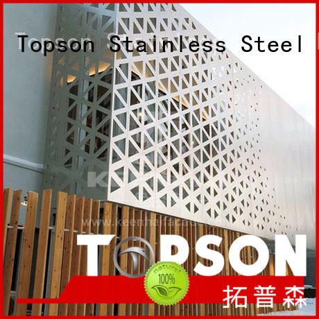 Topson mesh perforated mesh screen from china for landscape architecture