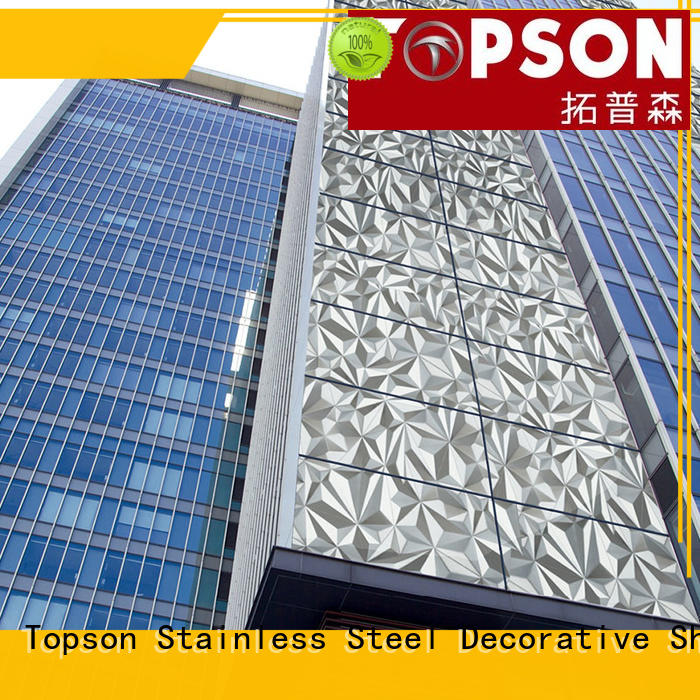 Topson new arrival stainless steel cladding cost elevator for shopping mall