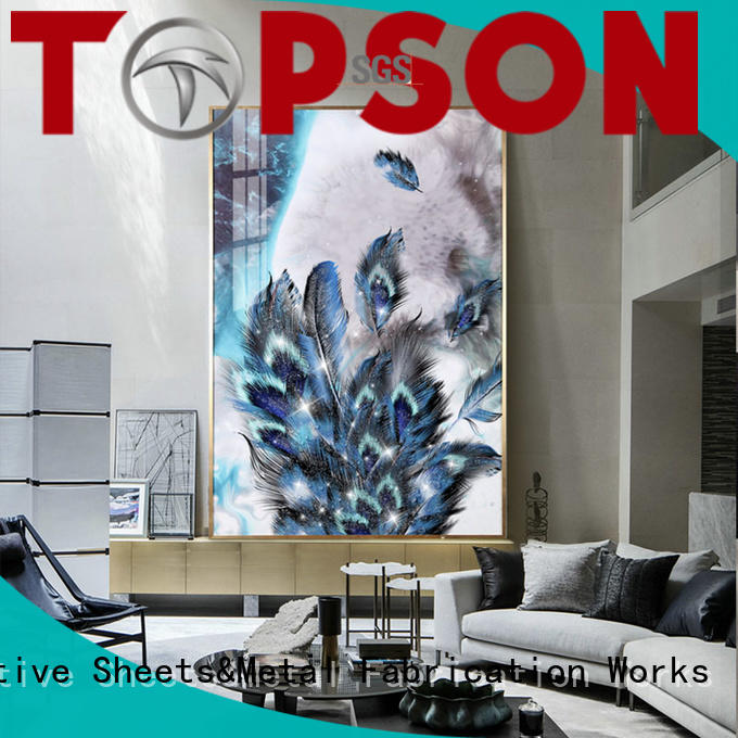 Topson worksglass glass furniture for manufacturer for TV wall
