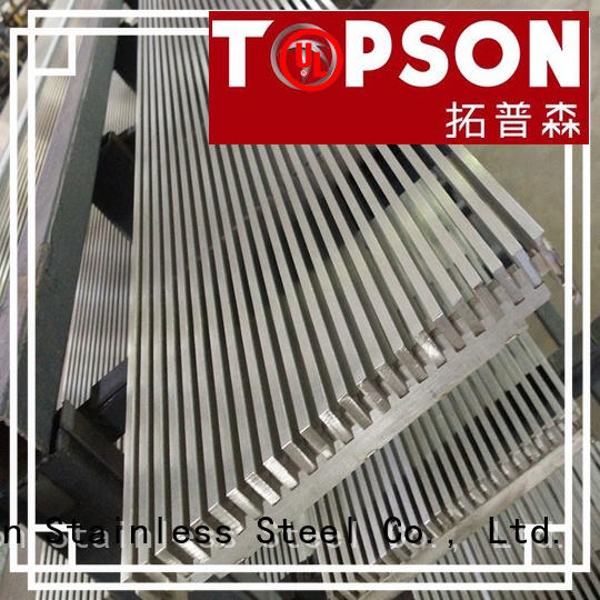 Topson metal stainless steel grating Supply for mall