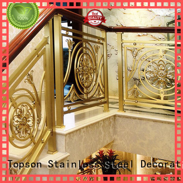 Topson staircase stainless steel stair handrail for mall