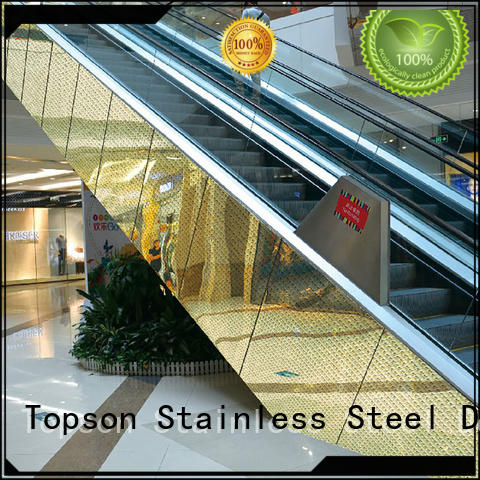 Topson wall stainless wall cladding in china for lift