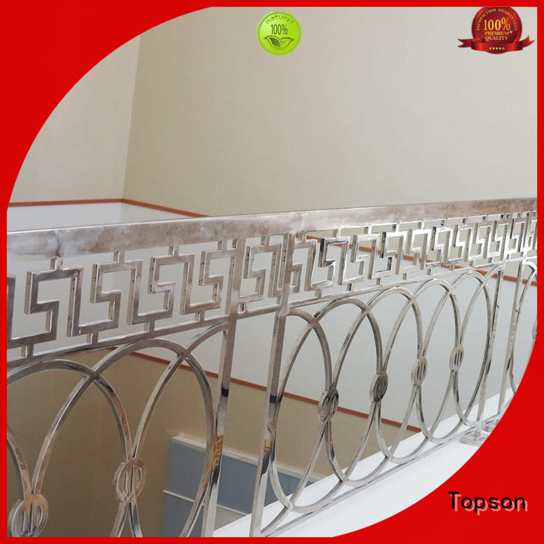 Topson curved stainless steel cable handrail for apartment