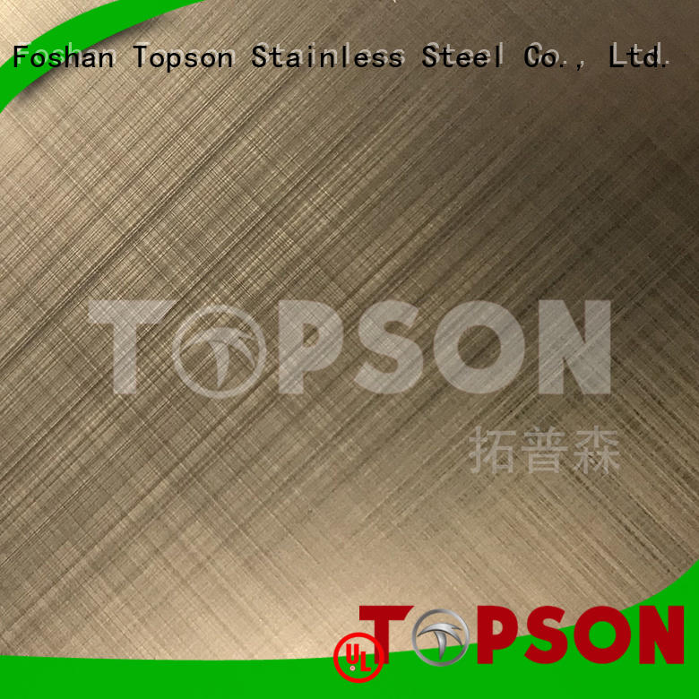 Topson widely used stainless steel panels collaboration for furniture