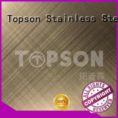 Topson colorful stainless steel metal sheet prices bead for handrail