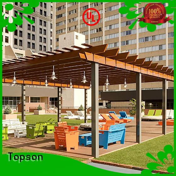 Topson High-quality aluminum pergola manufacturers for resort