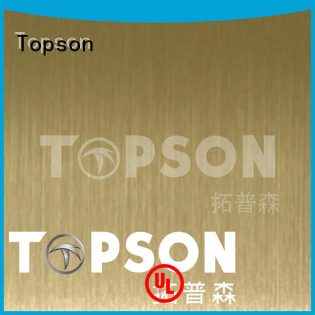 Topson mirror stainless steel sheet Supply for elevator for escalator decoration