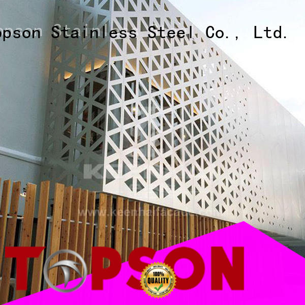 Topson Wholesale internal decorative screens company for building faced