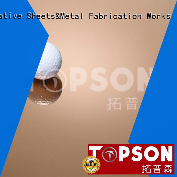 Topson vibration stainless steel sheet metal prices company for elevator for escalator decoration