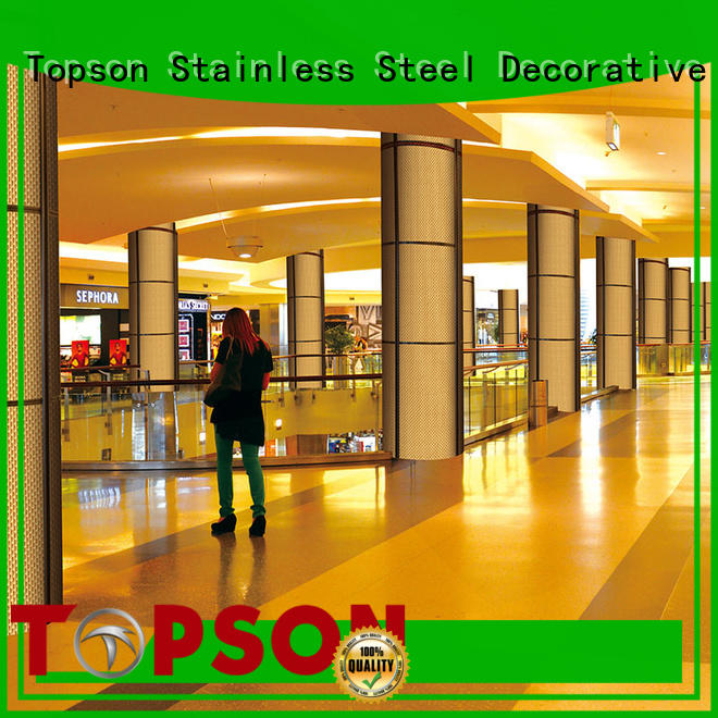 Topson external stainless steel column cladding in different color for elevator