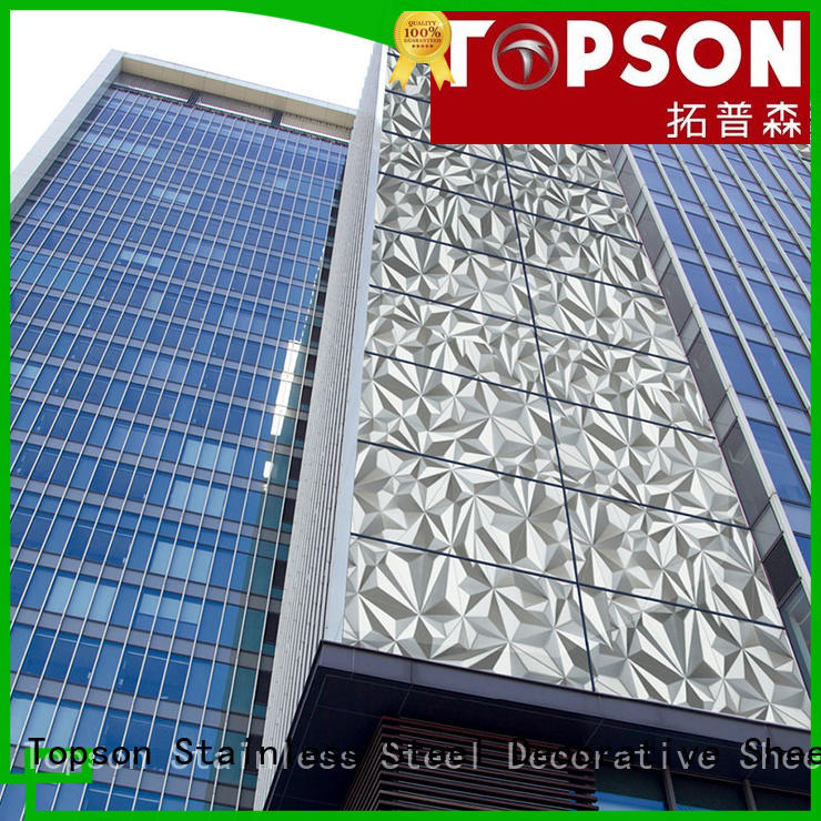 Topson stainless external metal cladding company for lift