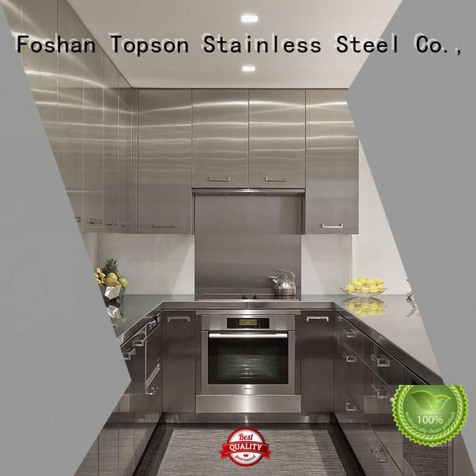 Topson furniture commercial stainless steel cabinets oem for hotel lobby decoration