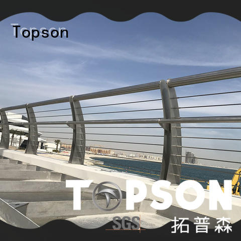 Topson curved modern stainless steel handrail factory for building